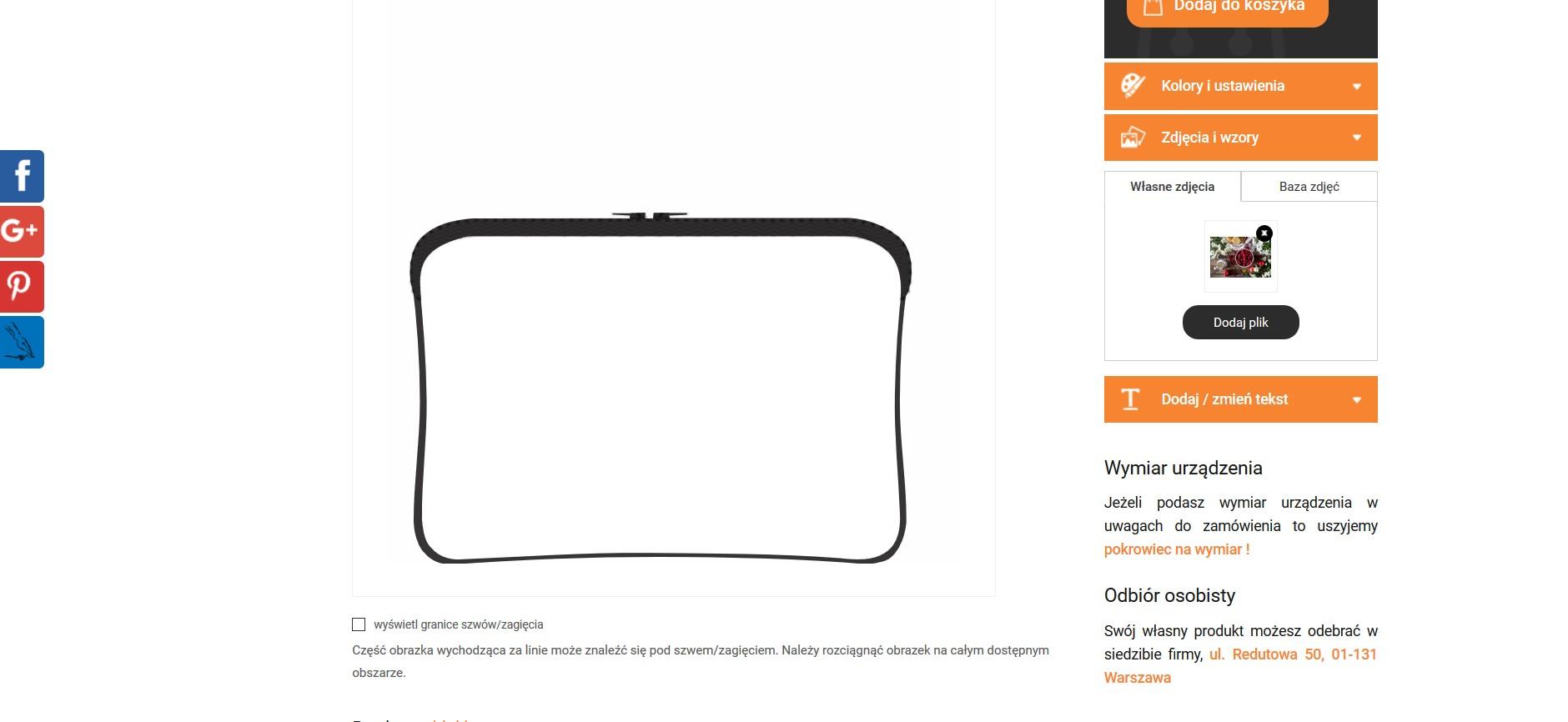 Projektowanie torby na laptopa