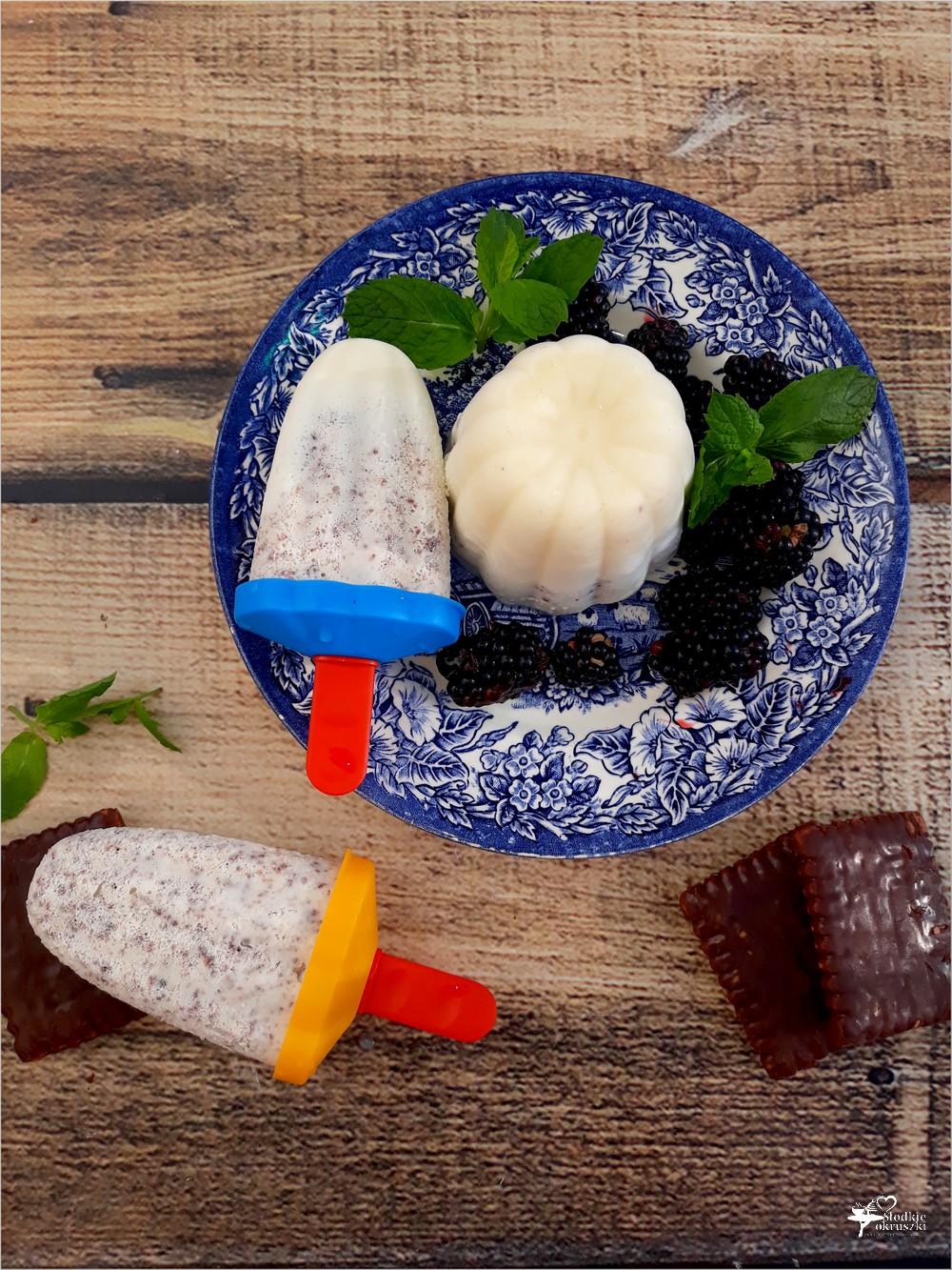 Domowe lody śmiatankowe z ciasteczkami i mascarpone
