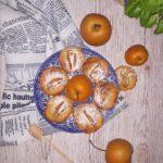 Serowe ciasteczka z gruszką azjatycką i miodem