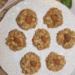 Zdrowe owsiane ciasteczka z migdałami – ciasteczka bez jajek i mąki