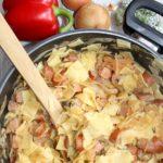 Obiadowe łazanki z paprykowo pomidorową nutą