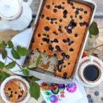 Ciasto z borówkami – szybki placek do kawy