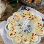 Jajka faszerowane kabanosem i rzodkiewką
