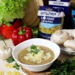 Zupa grzybowa z makaronem łazanki