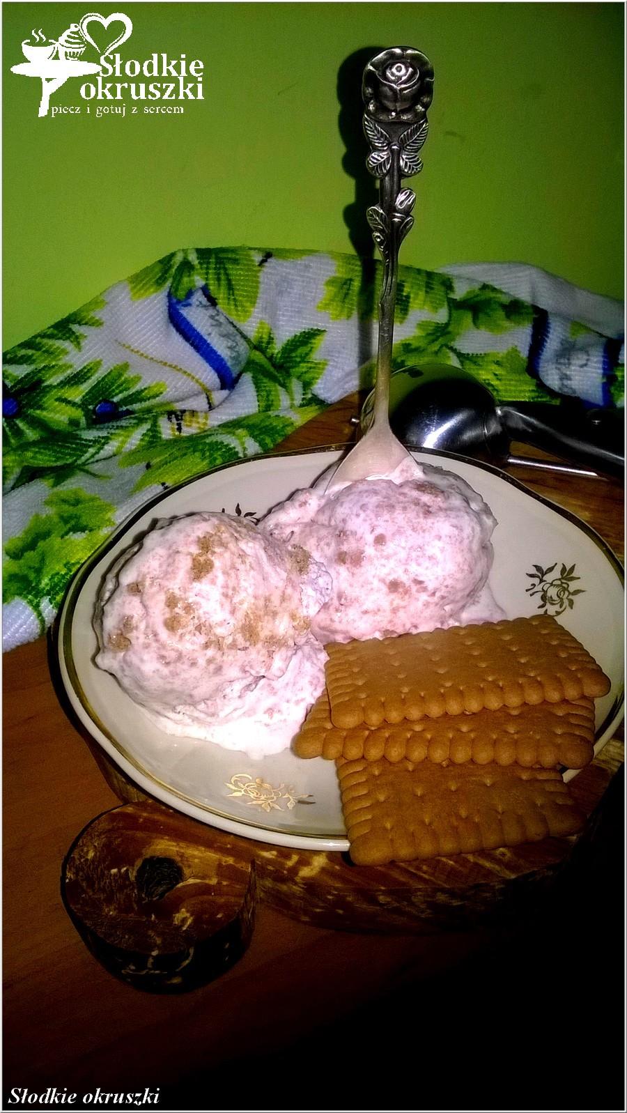 Ciasteczkowe lody domowe. Przepis na lody bez maszynki, bez jajek. (1)