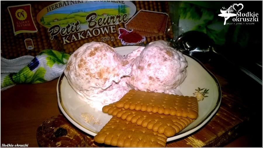 Ciasteczkowe lody domowe. Przepis na lody bez maszynki, bez jajek. (2)