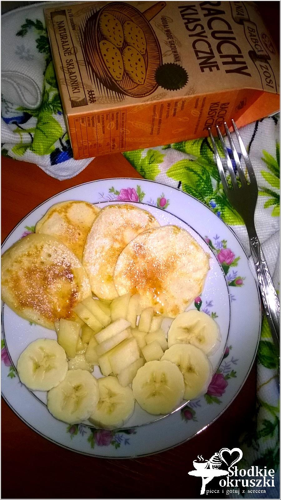 Ekspresowe racuszki z gruszką i bananami (2)