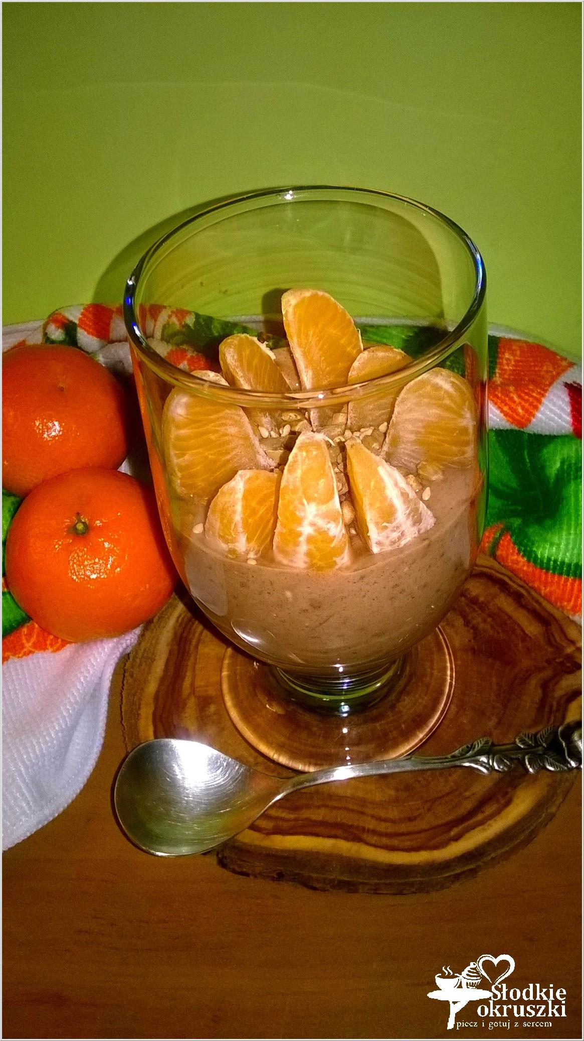 Lekki pudding czekoladowy z mandarynkami i ziarenkami (2)