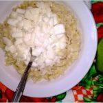 Makaron z gruszką w kokosowym sosie