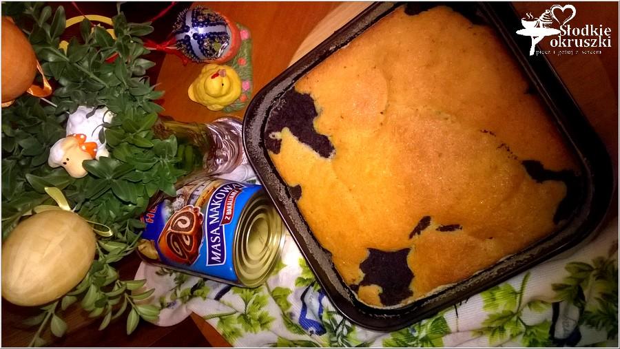 Makowiec zatapiany w cieście. Pyszne ciasto makowe. (2)