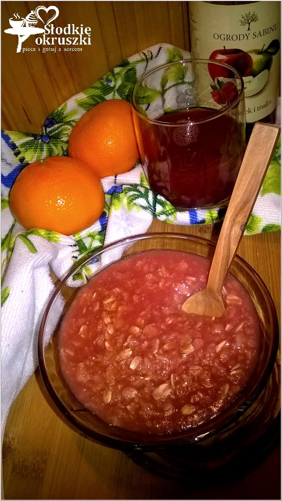 Malinowa owsianka na soku. Idealne śniadanie pełne witamin. (2)