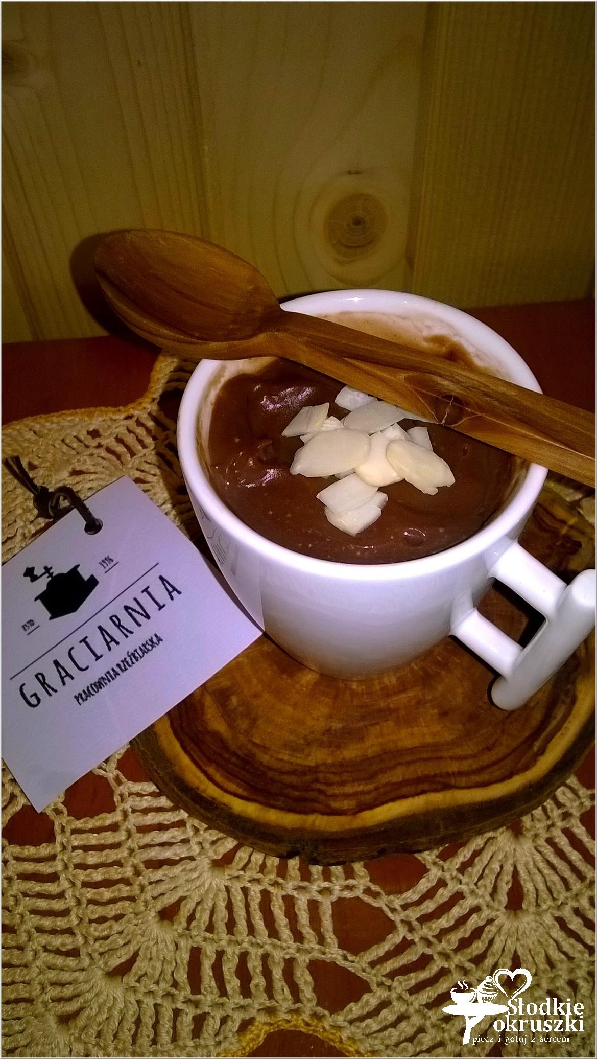 Mocno czekoladowy budyń domowy 2