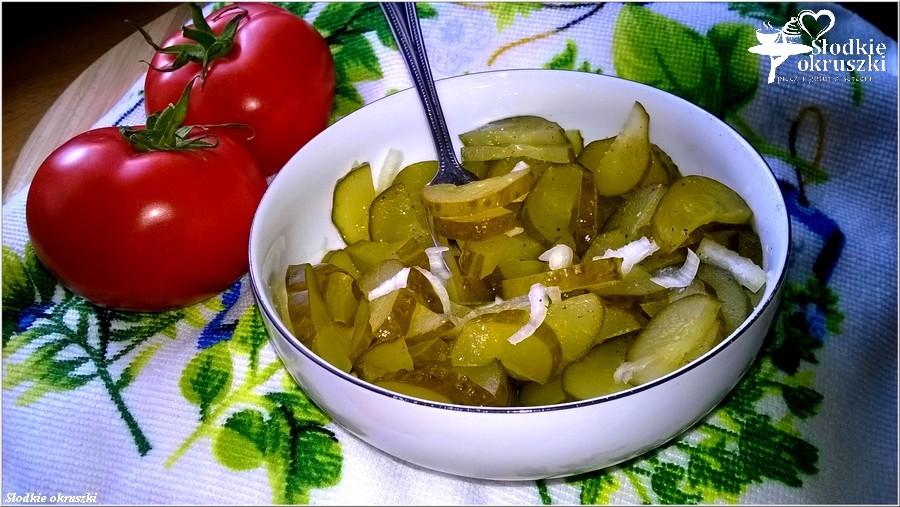 Najłatwiejsza surówka obiadowa z kwaszonych ogórków  (1)