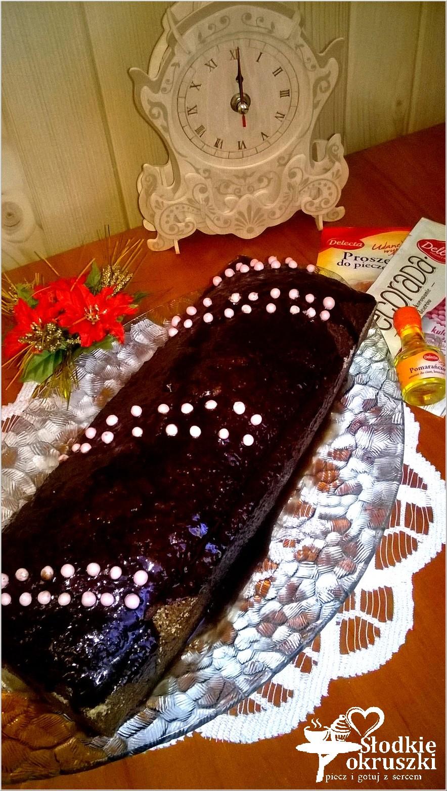 Szybkie ciasto czekoladowe z ananasem 2