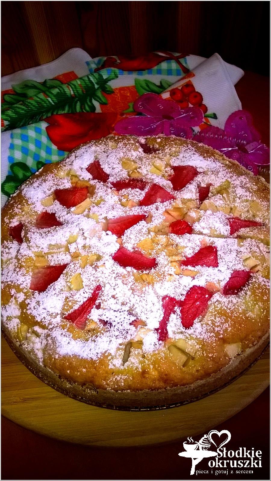 Truskawkowo-jabłkowe ciasto weekendowe (2)