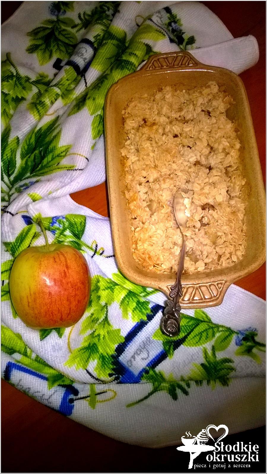 Zapiekany kokosowo-owsiany deser z cynamonowym jabłuszkiem (3)