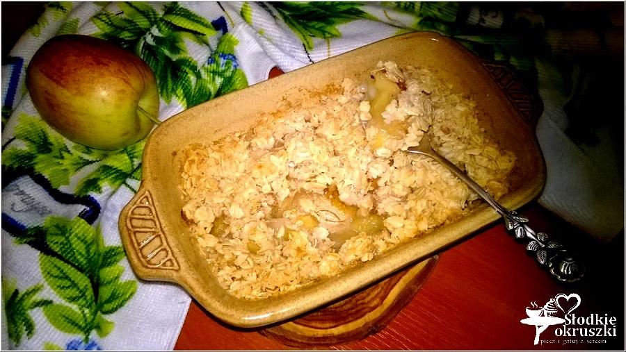 Zapiekany kokosowo-owsiany deser z cynamonowym jabłuszkiem (4)