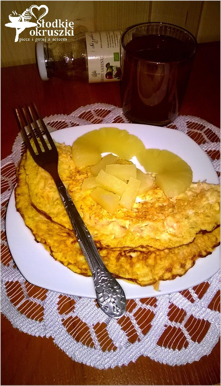 Zdrowy omlet marchewkowy 2