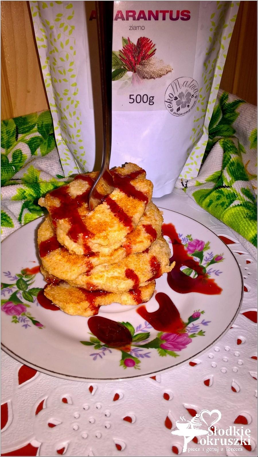Amarantusowe placuszki z mąką ryżową i jabłkiem. Bezglutenowe śniadanie pełne zdrowia. (2)