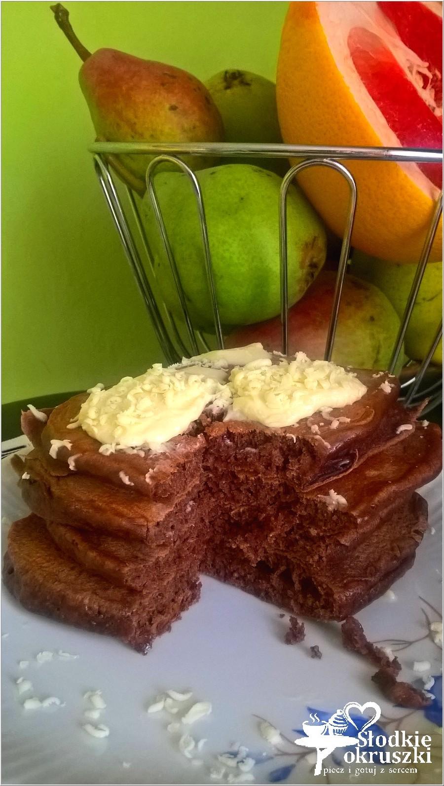 Puszyste czekoladowe placuszki
