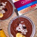 Quinoa pudding. Zdrowy pudding czekoladowy na bazie komosy ryżowej.