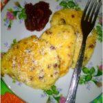Śniadaniowe placuszki z białego sera z żurawiną