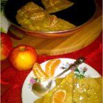 Dyniowy omlet z cynamonowym jabłkiem (na mące ryżowej)