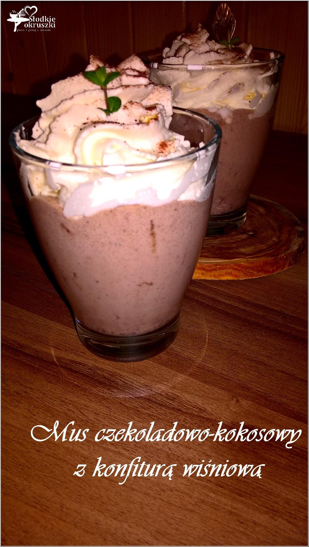 Mus czekoladowo-kokosowy z konfiturą wiśniową 1 (1)