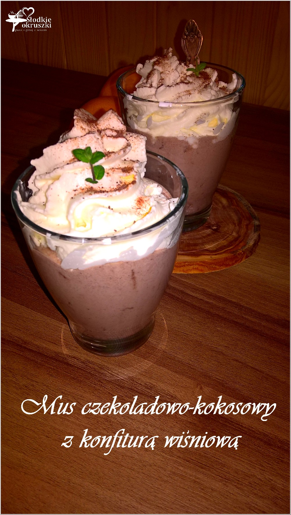 Mus czekoladowo-kokosowy z konfiturą wiśniową 1 (2)
