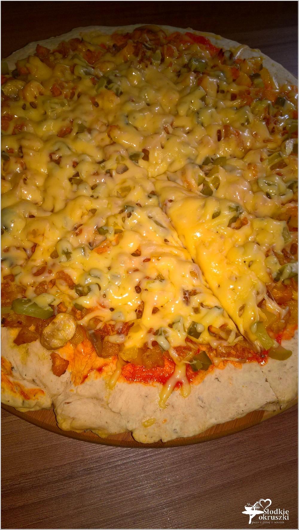 Pizza z polędwiczką z kurczaka i prażoną cebulką (3)