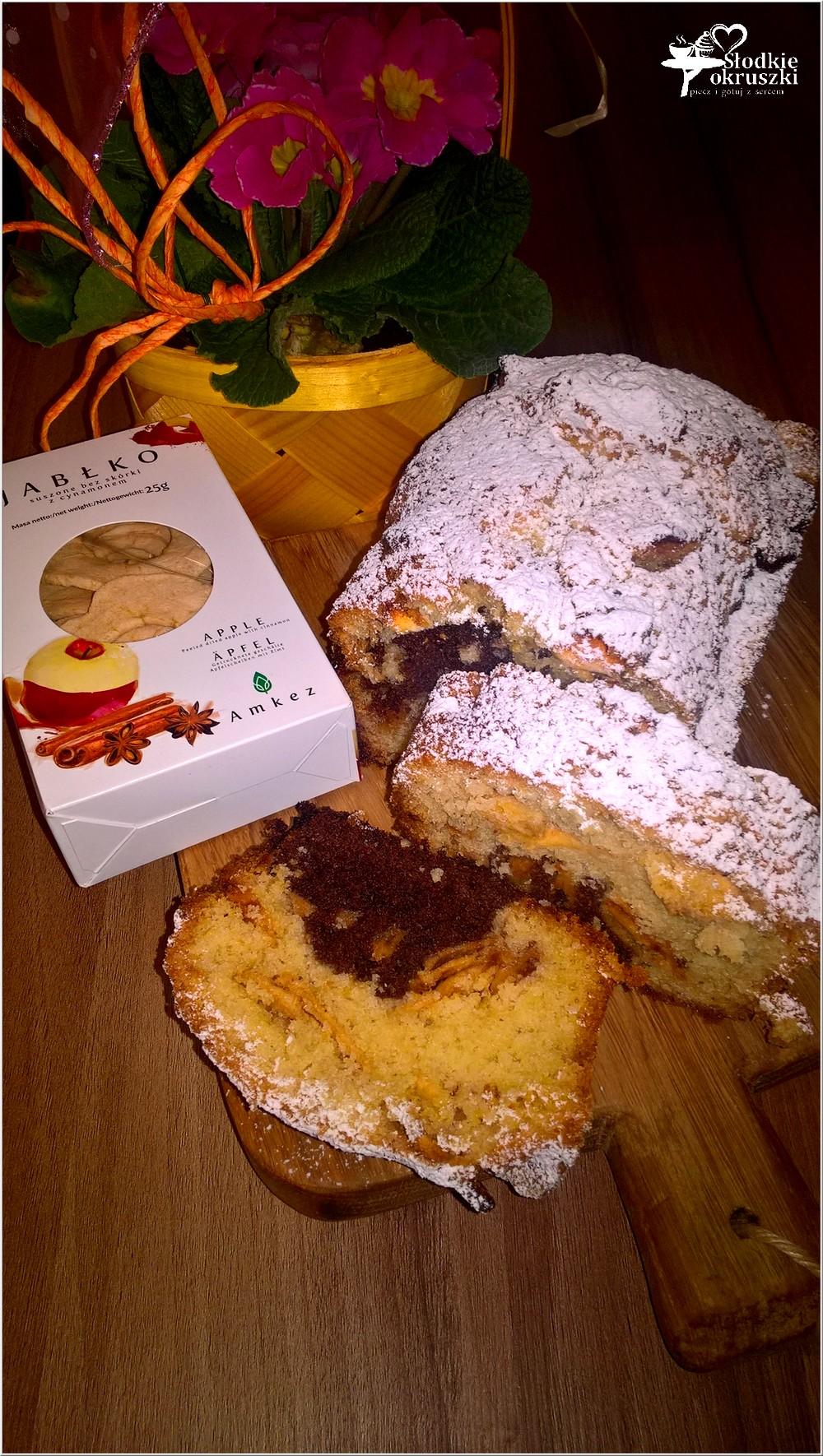 Waniliowo-kakaowe ciasto z cynamonowym jabłuszkiem (3)