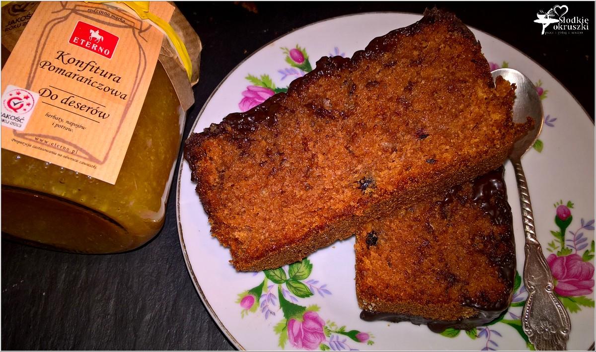 Ciasto czekoladowe wg Nigelli (z konfiturą pomarańczową) (3)