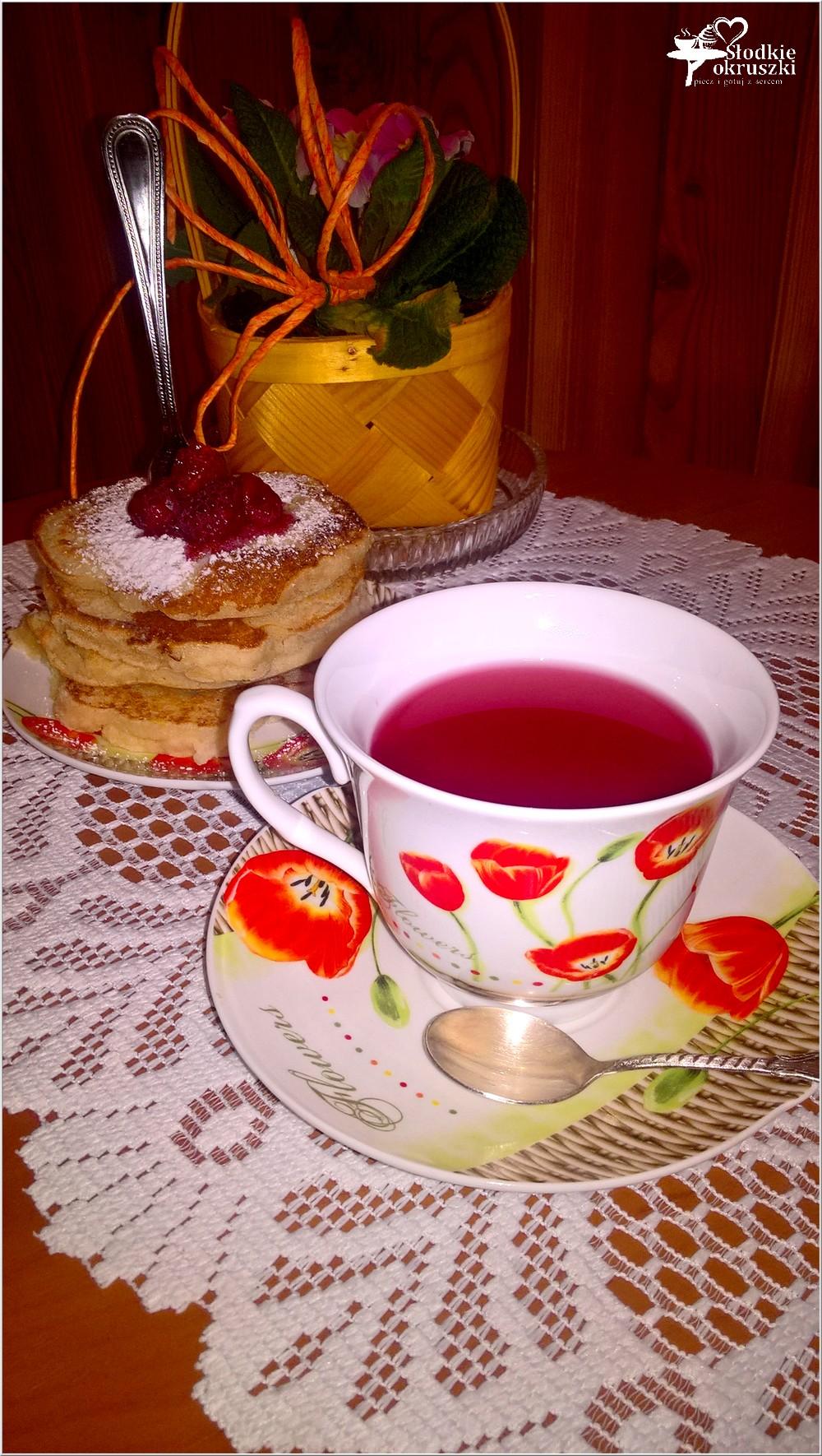Gruszkowe placuszki z kaszy manny + kilka słów o herbacie (3)