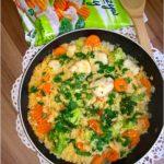 Kasza jaglana z bukietem warzyw. Obiad pełen zdrowia.