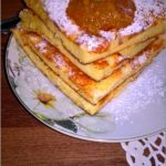 Waniliowo-serowy omlet z konfiturą pomarańczową
