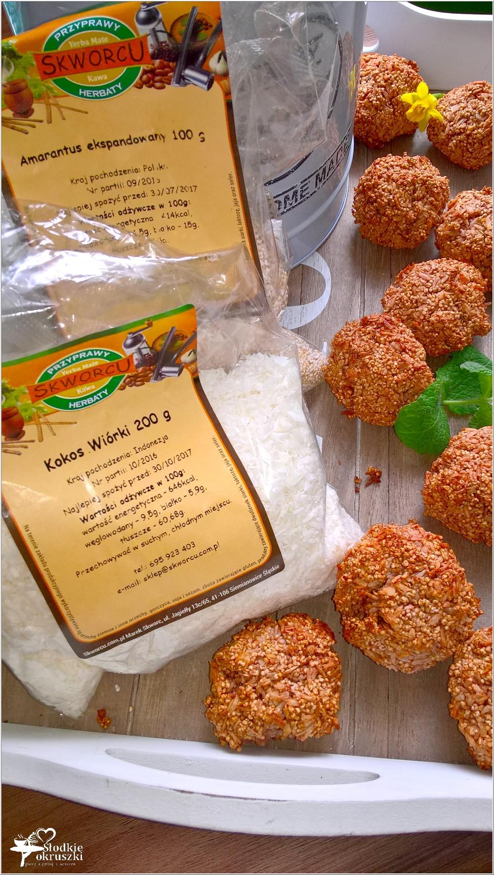 Amarantusowe kokosanki. Zdrowe ciasteczka (2)