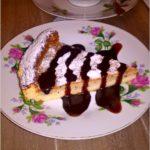 Kawowy sernik z amaretto (dwuwarstwowy)