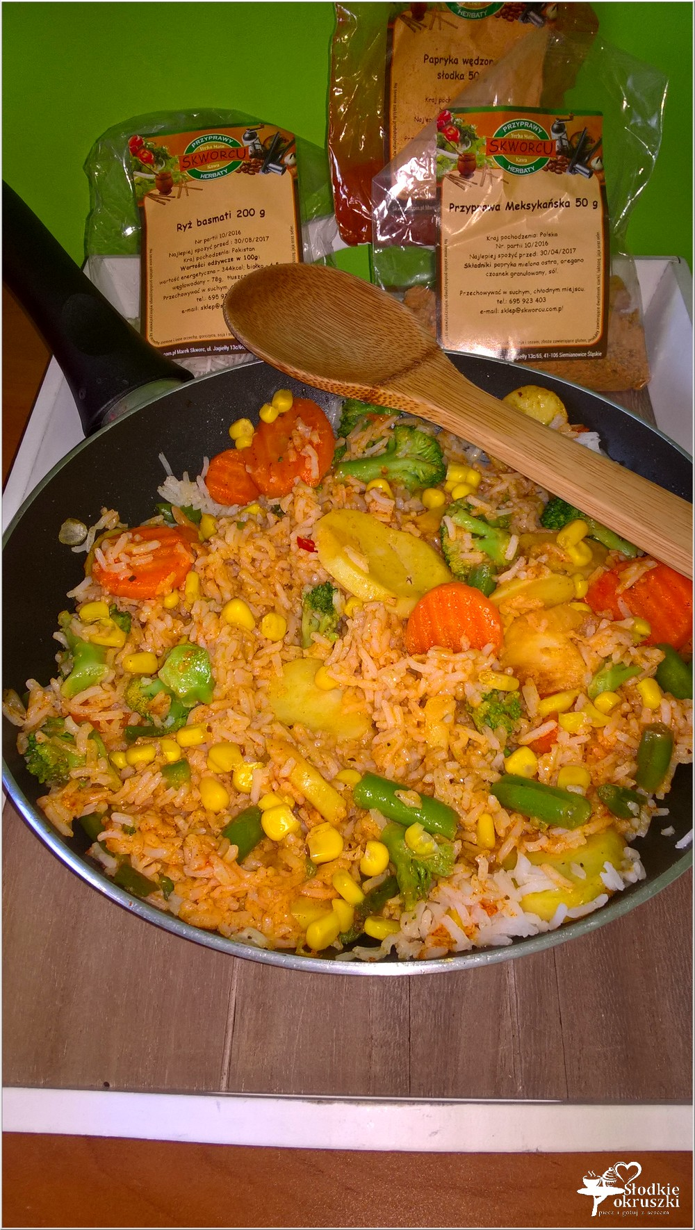 Szybki obiad. Pikantny ryż z warzywami (2)