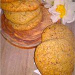 Orzechowo-chałwowe ciasteczka