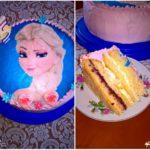 Truskawkowo-cytrynowy tort na 5 urodziny