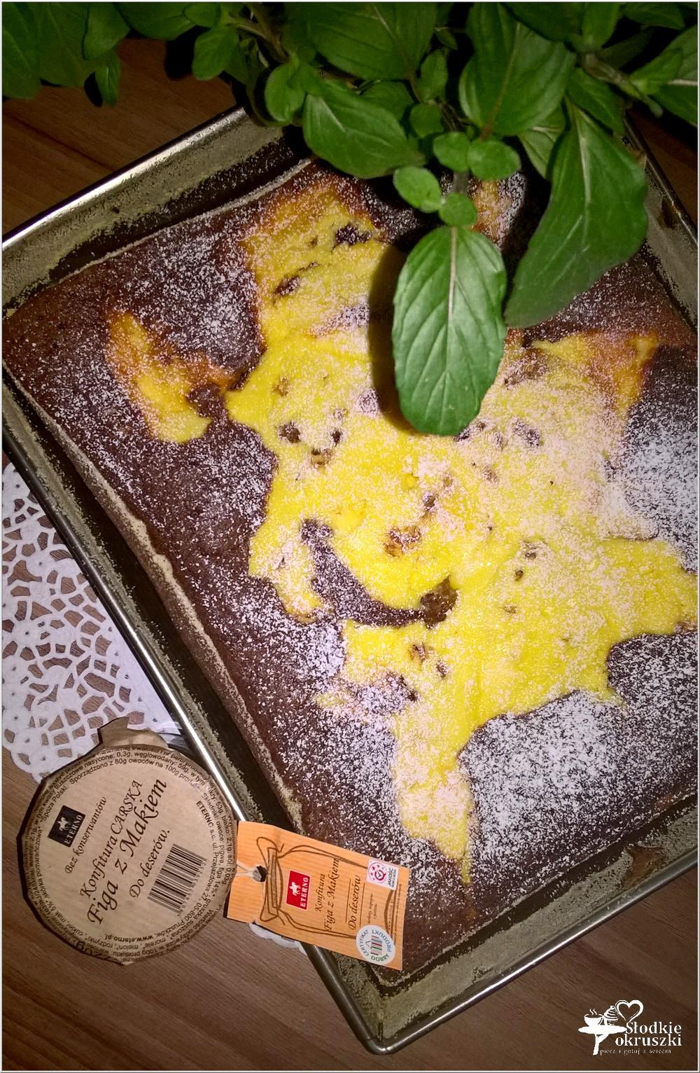 Ciasto czekoladowo serowe z figą z makiem (3)