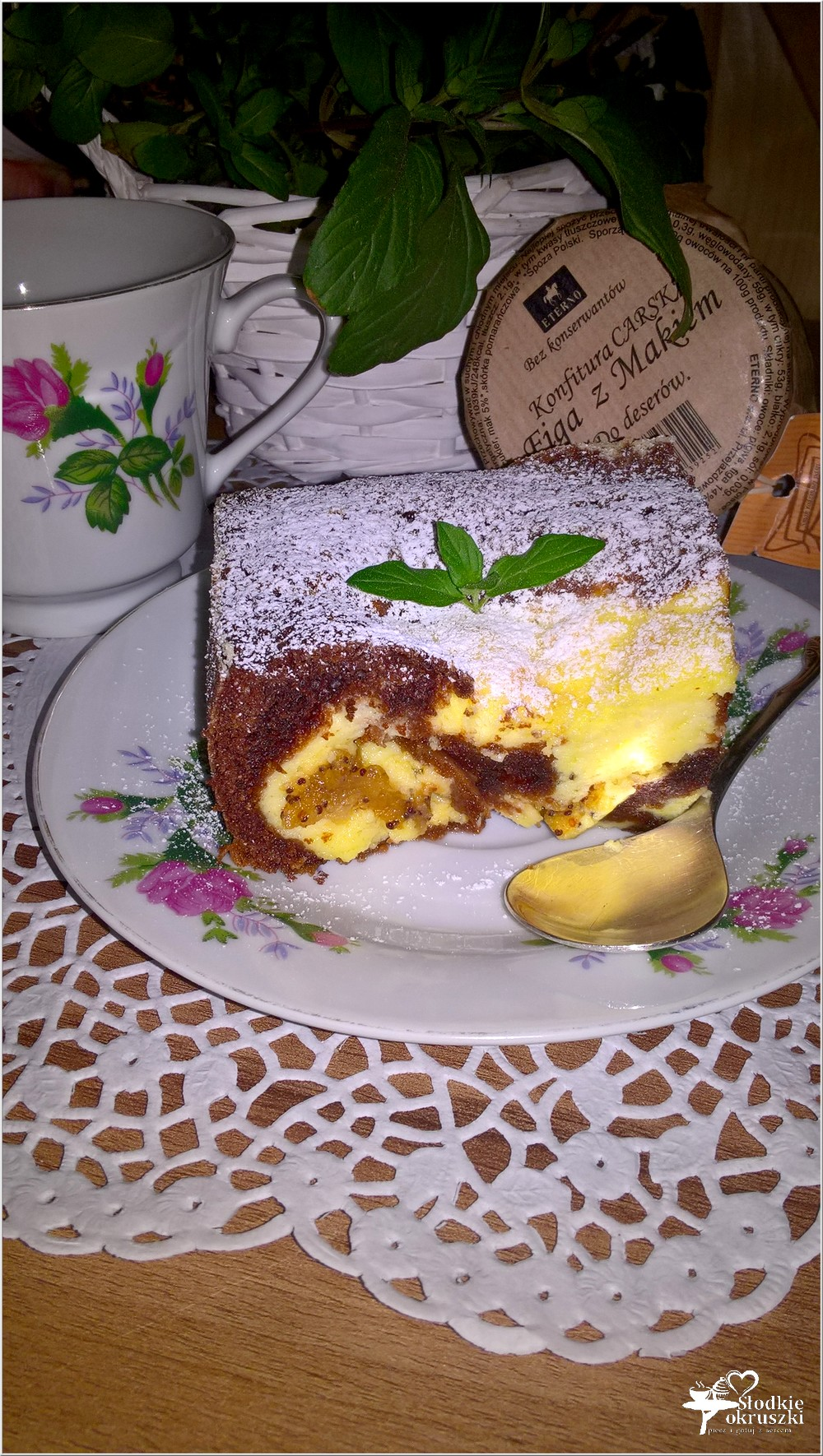Ciasto czekoladowo serowe z figą z makiem (4)