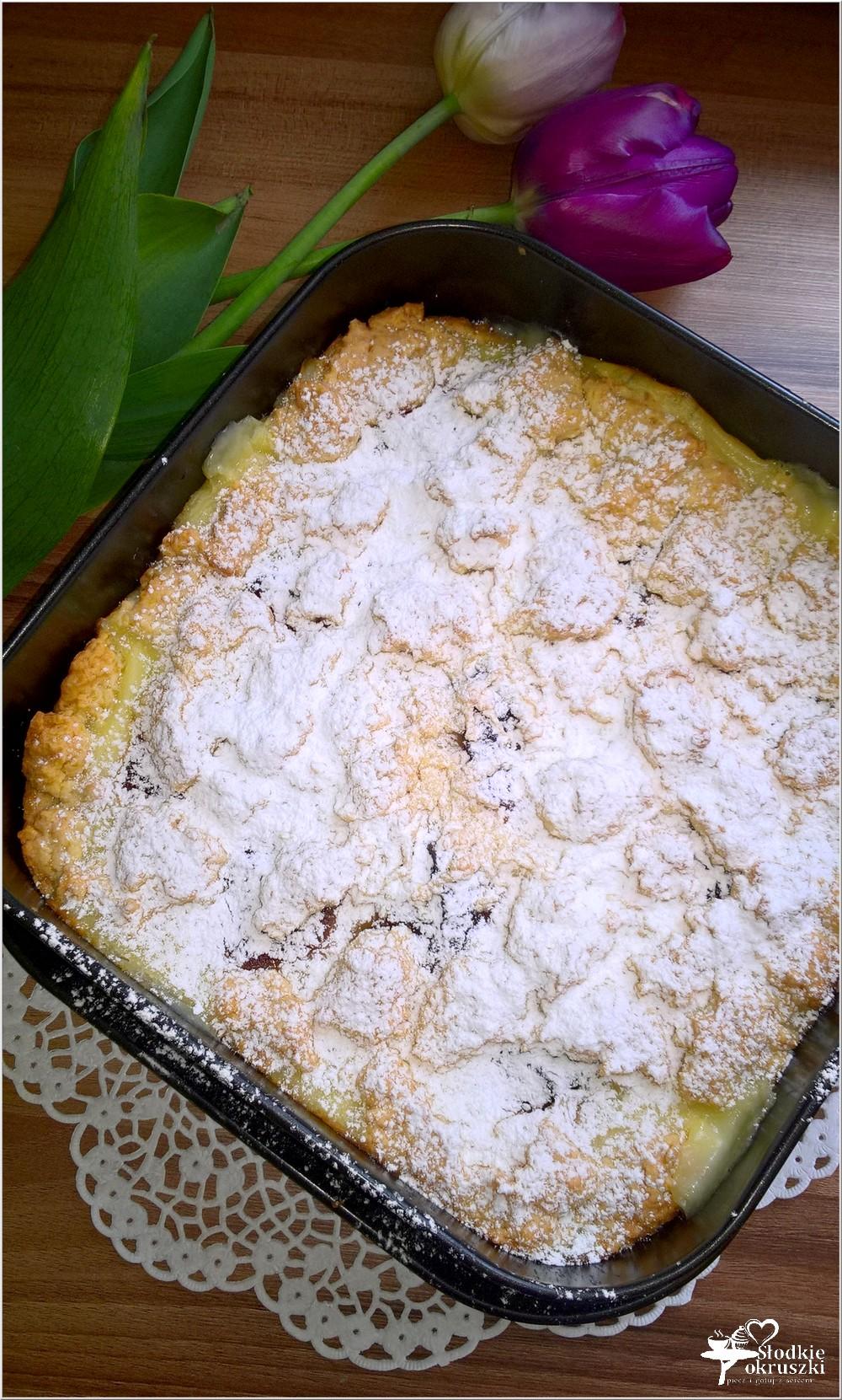 Kruche ciasto z budyniem i marmoladą (2)
