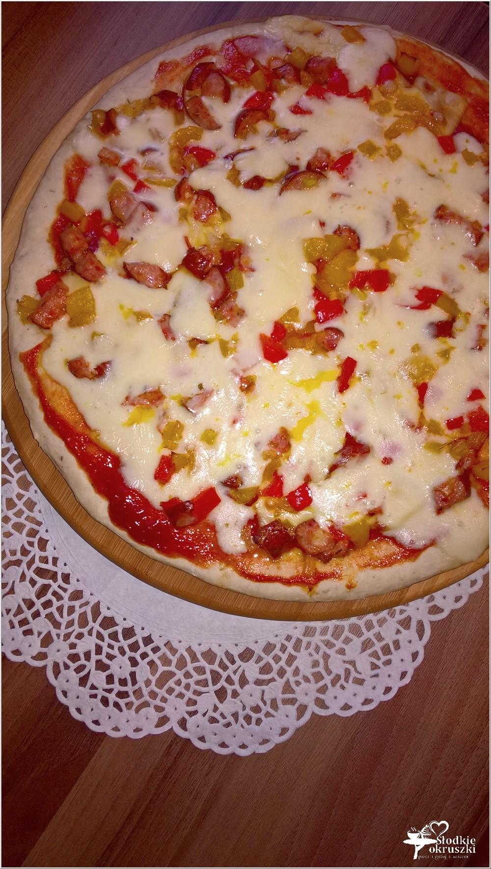 Pizza dwa sery z kiełbasą sycylijską (2)