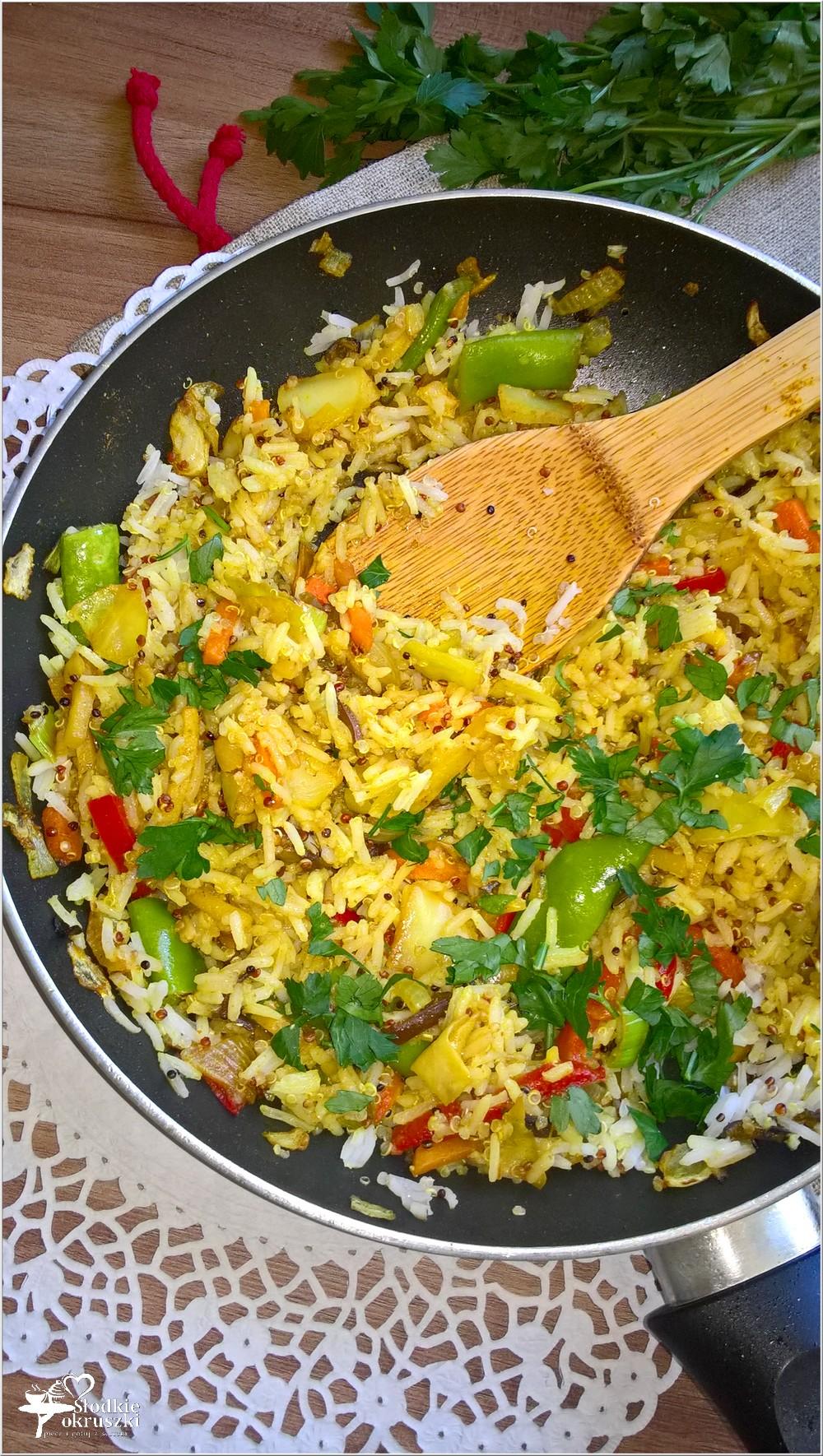 Quinoa z ryżem w azjatyckim wydaniu. Szybki obiad (1)