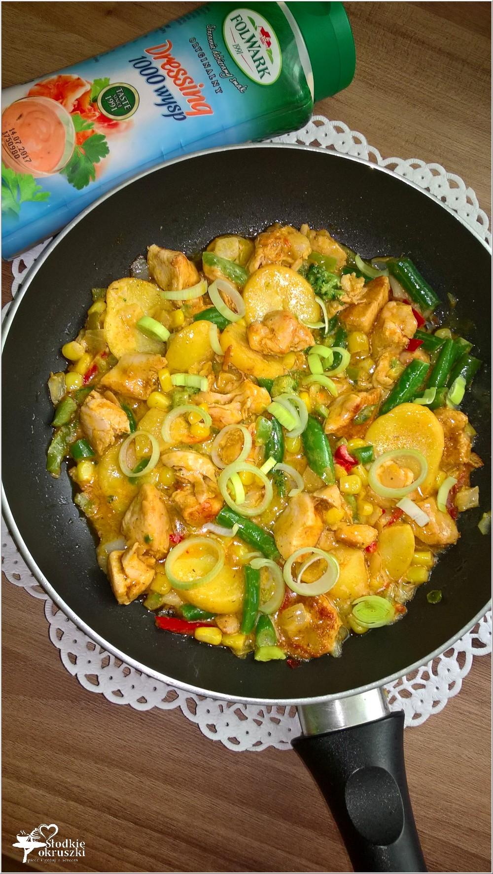 Szybki kurczak z warzywami w dessingu 1000 wysp (2)