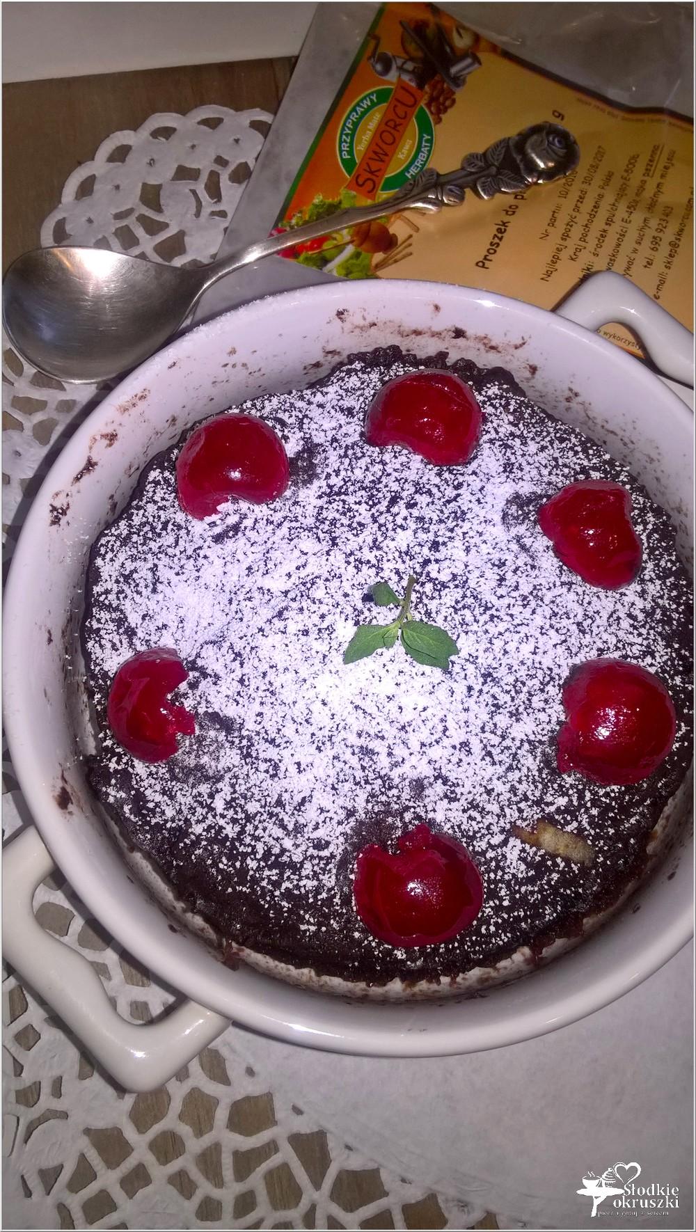 Czekoladowo-jabłkowe ciasto 3 minutowe. Mini ciasto (4)