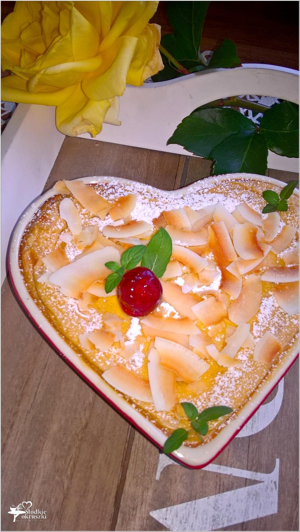 Delikatny kokosowy serniczek (z mlekiem kokosowym) (3)