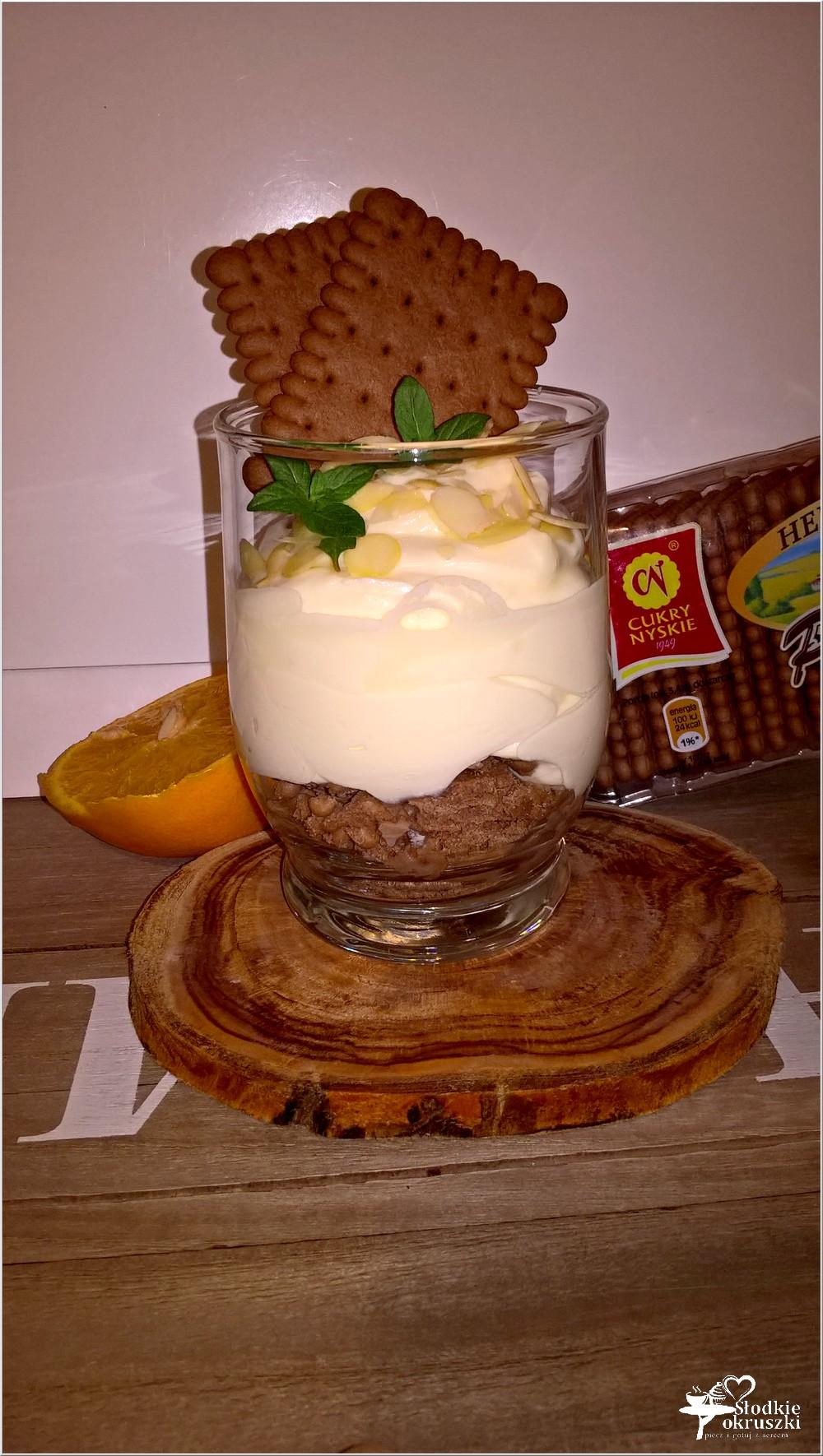 Krem pomarańczowy z kakaowym ciasteczkiem (2)