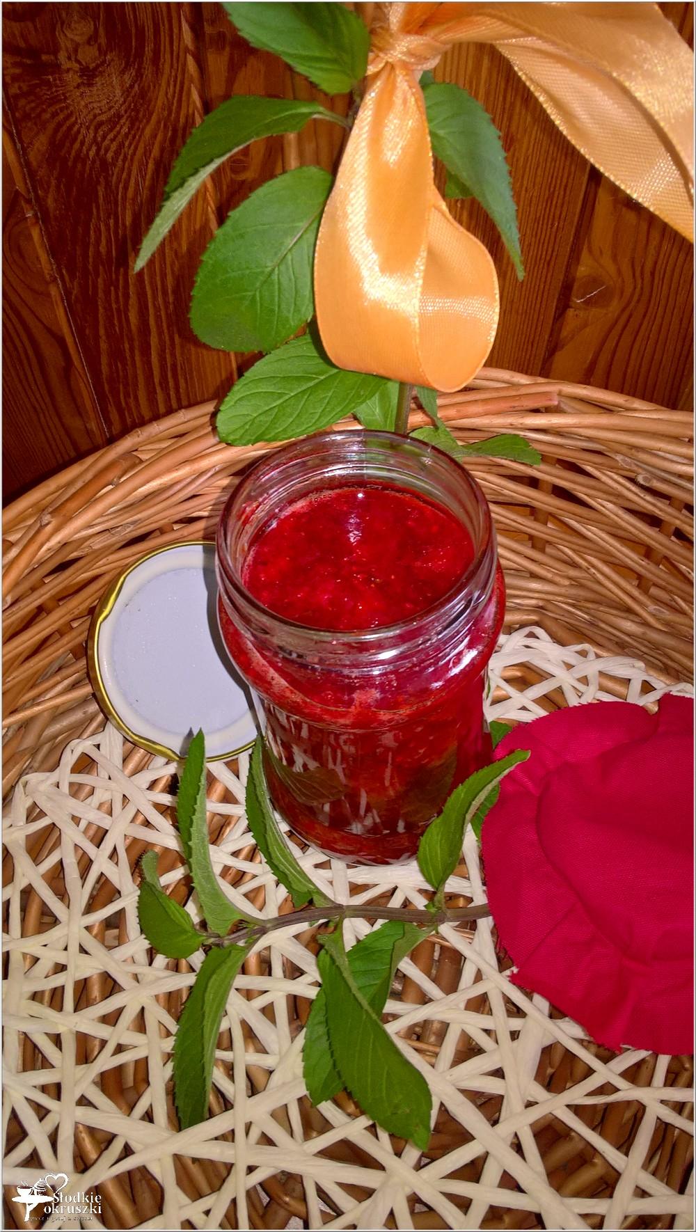 Dżem truskawkowy z cytrynowo-miętową nutą (1)